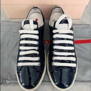 Authentic Prada patent leather sneakers